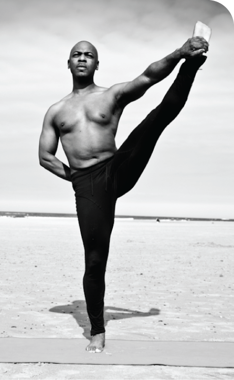 Perfect pose by your local yoga guru